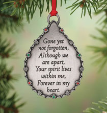 Occasion & Themed Ornaments - Personalized Teardrop Memorial Ornament