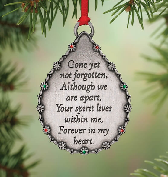 Personalized Teardrop Memorial Ornament