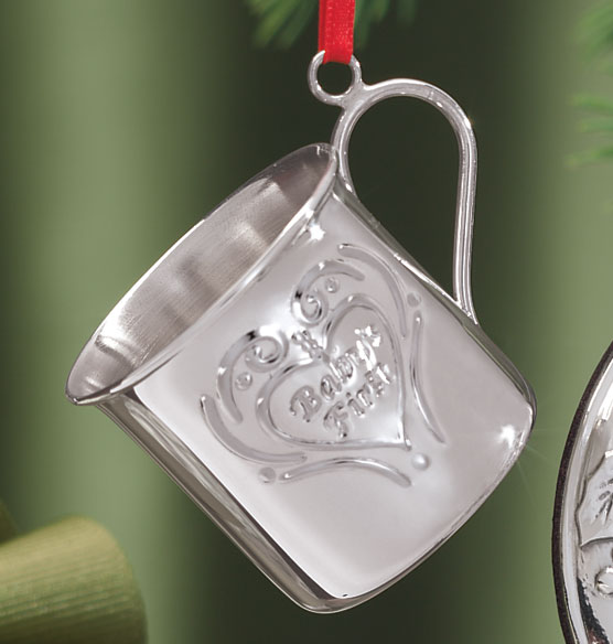 Sterling Silver Ornament Babys 1st Holiday Ornaments