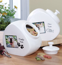 Gifts Under $50 - Personalized Pet Treat Jar