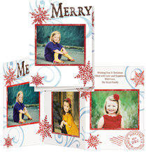 * Merry Christmas Stamp Collage Card Set of 20