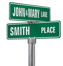 Outdoor Plaques & Decor - Personalized Street Sign-One Sided