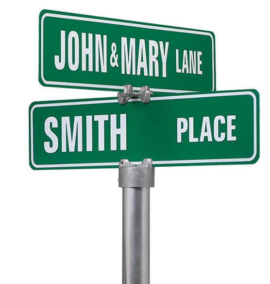 Personalized Street Sign-One Sided