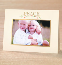 Photo Insert Cards - Peace Photo Christmas Card Set of 18