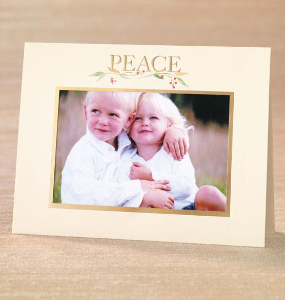 Peace Photo Christmas Card Set Of 18