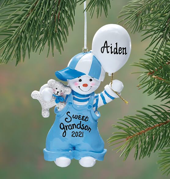 Personalized Sweet Grandson Ornament