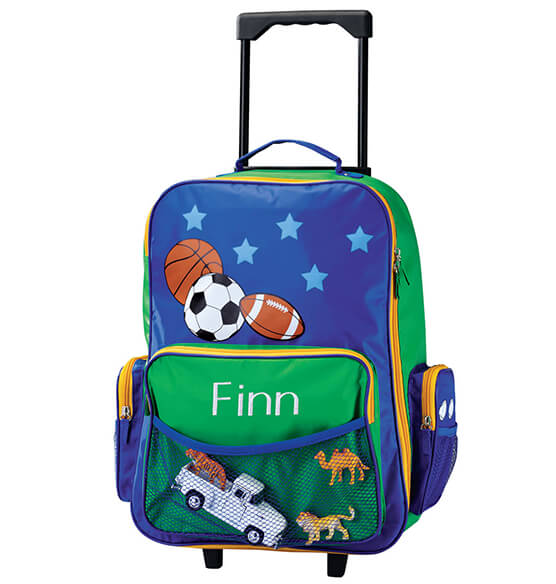 Personalized Kids Sports Pilot Rolling Luggage