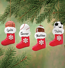 Sport Ornaments - Personalized Sports Stocking Ornament