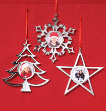 Silver Plated Ornaments Set of 3