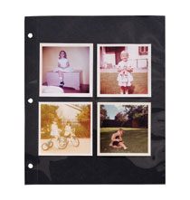 Photo Album Pages - Mylar® 3-Ring Sheet Protectors with Black Insert