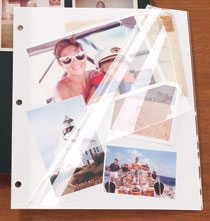 White Mylar 3-Ring Binder Sheet Protectors for Photos