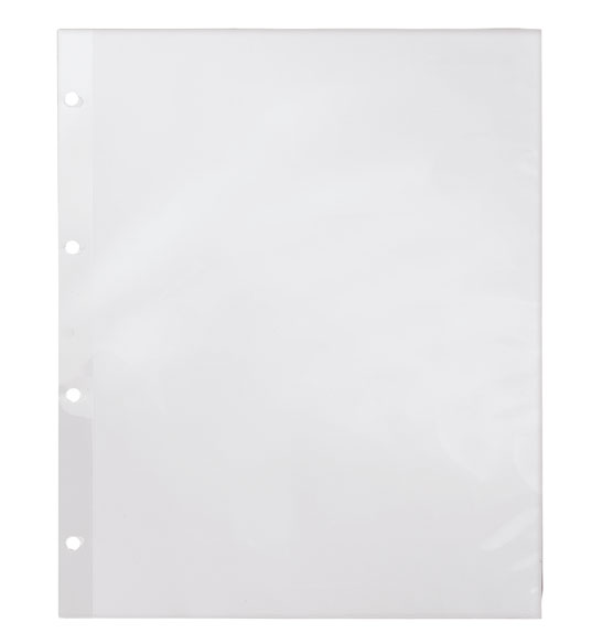 White Mylar 4-Ring Binder Sheet Protectors for Photos
