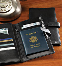 Personalized Leather Passport Case
