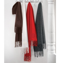 Personalized Wool Blend Scarves