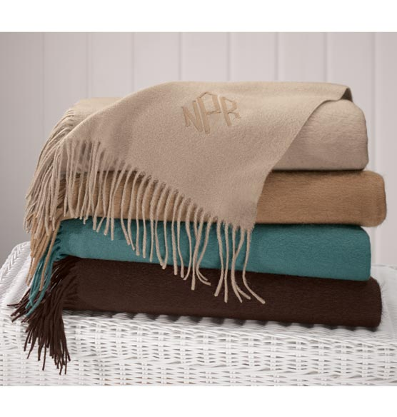Personalized Wool Blend Throw