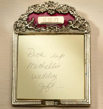 Desktop & Office - Personalized Burgundy Enamel Post-it Holder