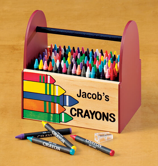 Personalized Wooden Crayon Caddy - View 1