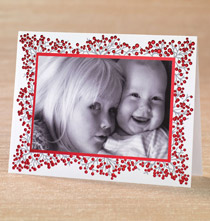 Winterberry Photo Christmas Card Set of 18