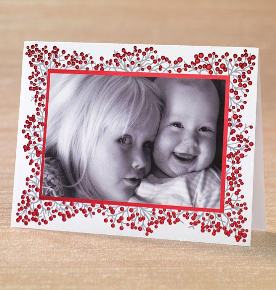 winterberry photo christmas card set of 18