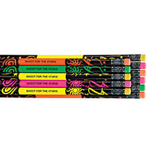 Books & Education - Personalized Neon Space Galaxy Pencils, Set of 12