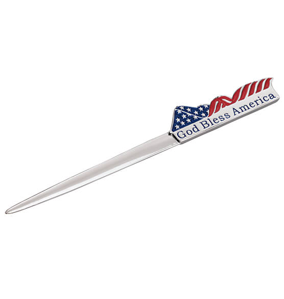God Bless America Personalized Letter Opener