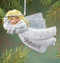 Personalized Birthstone Angel Ornament