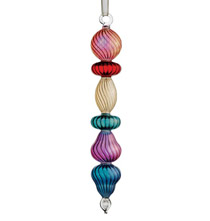 Egyptian Glass Ornament  Multi-Color Swirls
