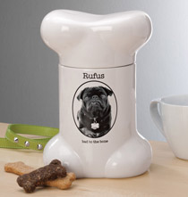 Gifts for the Pet Lover - Custom Bone Treat Jar