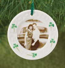 Custom Belleek Plate Ornament