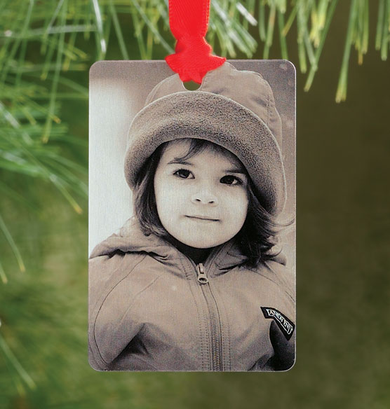 Tin Type Photo Ornament