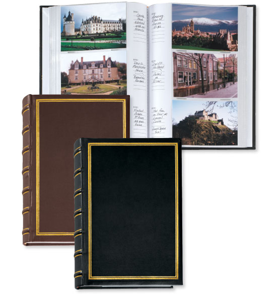Essential European 4x6 Leather Photo Album