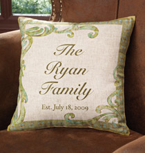 Personalized Pillows - Personalized Linen Pillow