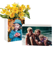 Photo Décor & Gifts - Full Bleed Custom Photo Vase