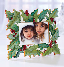 Hand Painted Holly Frame
