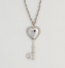 Personalized Heart Key Locket
