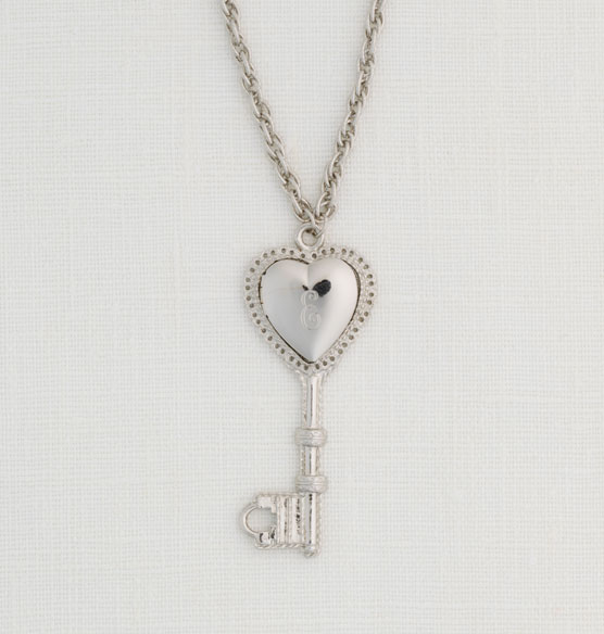 Personalized Heart Key Locket - View 1