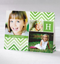 * Colorful Chevron Collage Card Set of 20
