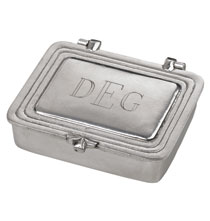 Accessories for Him - Personalized Pewter Box Small