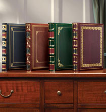 Library Leather Picture Album with Gold Tooling Details