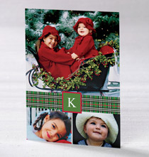 * Plaid Ribbon Collage Card Set of 20