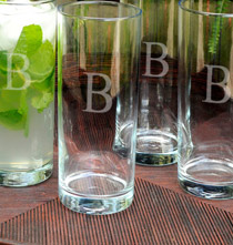 Personalized Drinking Glasses Set of 4