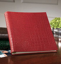 Italian Croc Embossed Leather Photo Albums
