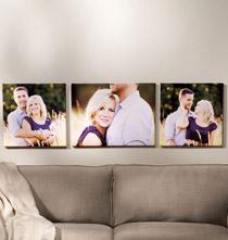 Custom Horizontal Triptych Canvas