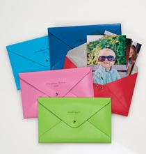 Leather Photo Envelope Personalized