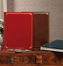 Wedding Essentials - Leather Scrapbook with Gold Tooling – Oversized Album
