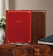 Personalized Leather Oversized Scrapbook