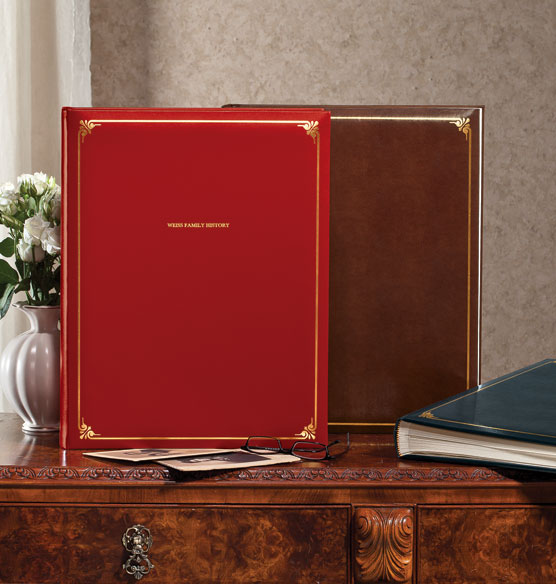 Personalized Large Bonded Leather Photo Album