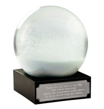 Decorative Accents - Meditation Waterglobe with Personalized Plaque