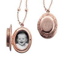 Personalized Rose Gold Double Locket
