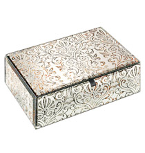 Brocade Mirrored Keepsake Box